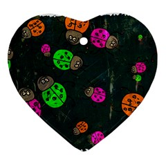 Abstract Bug Insect Pattern Ornament (heart)
