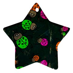 Abstract Bug Insect Pattern Ornament (star)