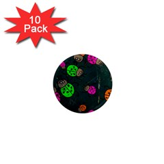 Abstract Bug Insect Pattern 1  Mini Magnet (10 Pack)