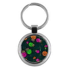 Abstract Bug Insect Pattern Key Chains (round)