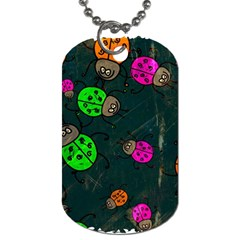 Abstract Bug Insect Pattern Dog Tag (one Side)