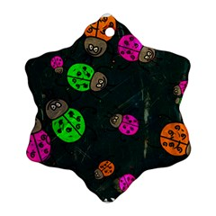 Abstract Bug Insect Pattern Snowflake Ornament (two Sides)