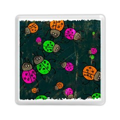 Abstract Bug Insect Pattern Memory Card Reader (square)