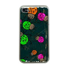 Abstract Bug Insect Pattern Apple Iphone 4 Case (clear)