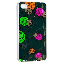 Abstract Bug Insect Pattern Apple Iphone 4/4s Seamless Case (white)