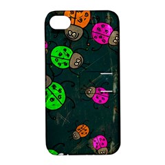 Abstract Bug Insect Pattern Apple Iphone 4/4s Hardshell Case With Stand