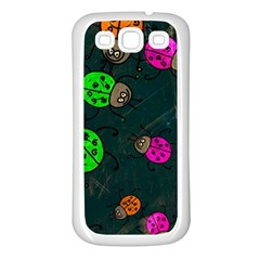 Abstract Bug Insect Pattern Samsung Galaxy S3 Back Case (white)