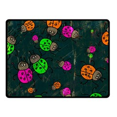 Abstract Bug Insect Pattern Double Sided Fleece Blanket (small)