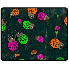Abstract Bug Insect Pattern Double Sided Fleece Blanket (medium)