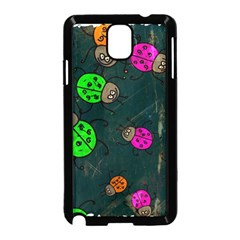 Abstract Bug Insect Pattern Samsung Galaxy Note 3 Neo Hardshell Case (black)