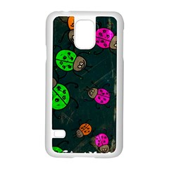 Abstract Bug Insect Pattern Samsung Galaxy S5 Case (white)