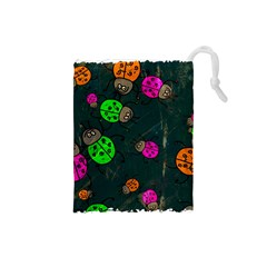 Abstract Bug Insect Pattern Drawstring Pouches (small)