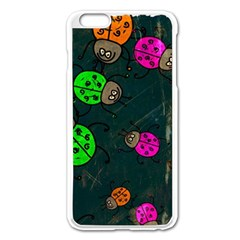 Abstract Bug Insect Pattern Apple Iphone 6 Plus/6s Plus Enamel White Case