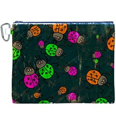 Abstract Bug Insect Pattern Canvas Cosmetic Bag (xxxl)