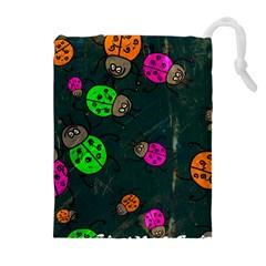 Abstract Bug Insect Pattern Drawstring Pouches (extra Large)