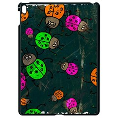 Abstract Bug Insect Pattern Apple Ipad Pro 9 7   Black Seamless Case