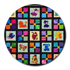 Animal Party Pattern Round Mousepads