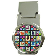 Animal Party Pattern Money Clip Watches