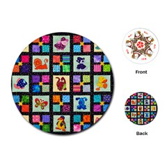 Animal Party Pattern Playing Cards (round)