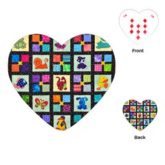 Animal Party Pattern Playing Cards (heart)