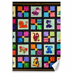 Animal Party Pattern Canvas 12  X 18