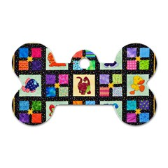 Animal Party Pattern Dog Tag Bone (one Side)