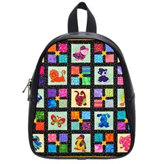 Animal Party Pattern School Bags (small)