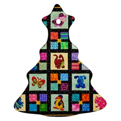 Animal Party Pattern Christmas Tree Ornament (two Sides)