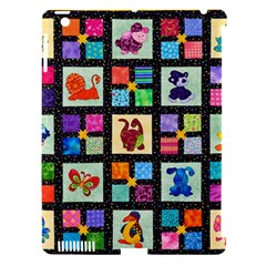 Animal Party Pattern Apple Ipad 3/4 Hardshell Case (compatible With Smart Cover)