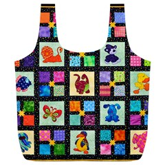 Animal Party Pattern Full Print Recycle Bags (l)