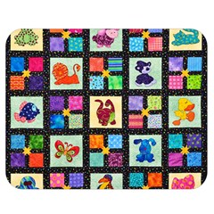 Animal Party Pattern Double Sided Flano Blanket (medium)