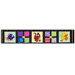 Animal Party Pattern Flano Scarf (large)
