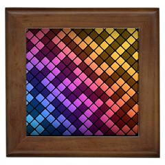 Abstract Small Block Pattern Framed Tiles