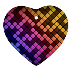 Abstract Small Block Pattern Ornament (heart)