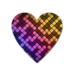 Abstract Small Block Pattern Heart Magnet