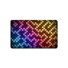 Abstract Small Block Pattern Magnet (name Card)