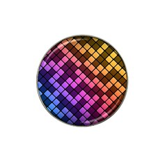 Abstract Small Block Pattern Hat Clip Ball Marker