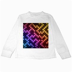 Abstract Small Block Pattern Kids Long Sleeve T Shirts