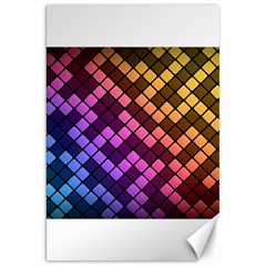 Abstract Small Block Pattern Canvas 20  X 30