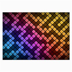 Abstract Small Block Pattern Large Glasses Cloth