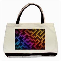 Abstract Small Block Pattern Basic Tote Bag (two Sides)