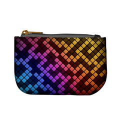 Abstract Small Block Pattern Mini Coin Purses