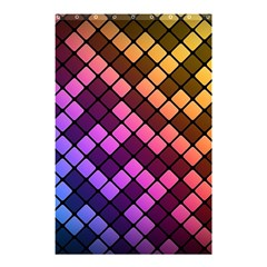 Abstract Small Block Pattern Shower Curtain 48  X 72  (small)