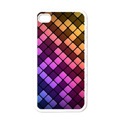 Abstract Small Block Pattern Apple Iphone 4 Case (white)