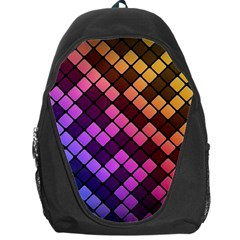 Abstract Small Block Pattern Backpack Bag