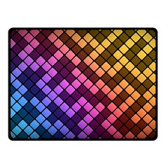 Abstract Small Block Pattern Double Sided Fleece Blanket (small)