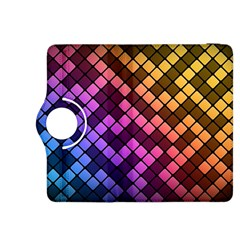 Abstract Small Block Pattern Kindle Fire Hdx 8 9  Flip 360 Case