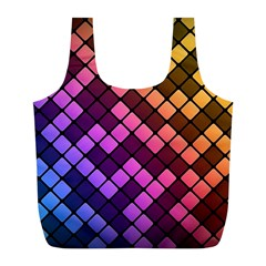 Abstract Small Block Pattern Full Print Recycle Bags (l)