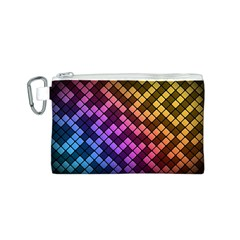 Abstract Small Block Pattern Canvas Cosmetic Bag (s)