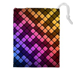 Abstract Small Block Pattern Drawstring Pouches (xxl)